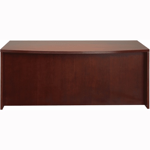 "Mayline Luminary Bow Front Desk 72"" Cherry Veneer [DK3672C]"