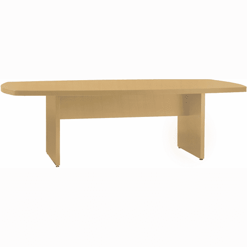 """Mayline Luminary Convex Conference Table Maple Veneer 36"""" x 72"""" [CT3672M]"""