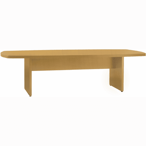 "Mayline Luminary Convex Conference Table Maple Veneer 48"" x 96"" [CT4896M]"