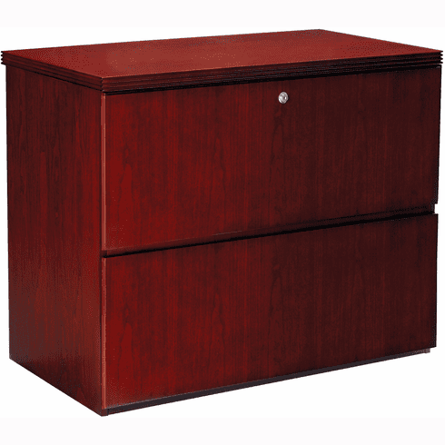 Mayline Luminary Freestanding Lateral File 2 Drawer Cherry [LF23620C]