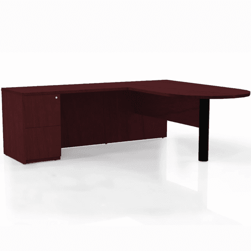 Mayline Luminary L Shaped Office Desk Cherry Black [EL6C]