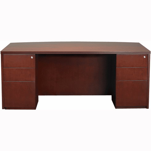 "Mayline Luminary Office Desk 36"" x 72"" Cherry Veneer [DBDK3672C]"