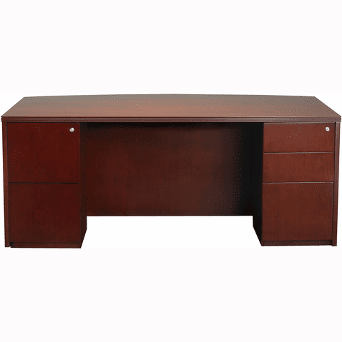 "Mayline Luminary Office Desk 36"" x 72"" Cherry Veneer [DPDK3672C]"