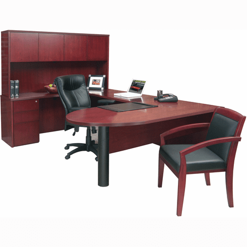 Mayline Luminary Office Desk Set Cherry Black [EUB2C]
