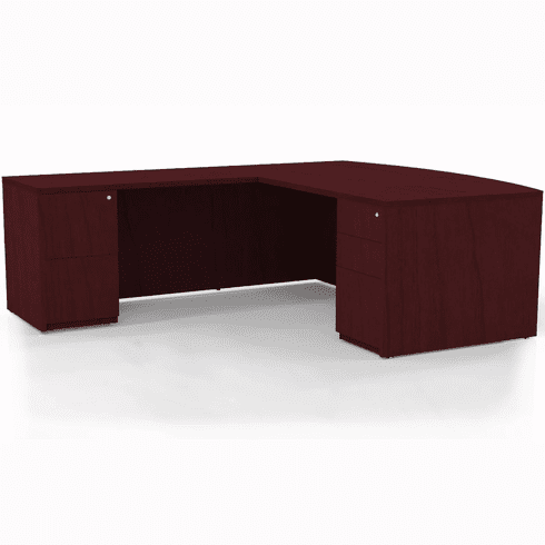 Mayline Luminary Office Desk Set Cherry Veneer [EL5C]