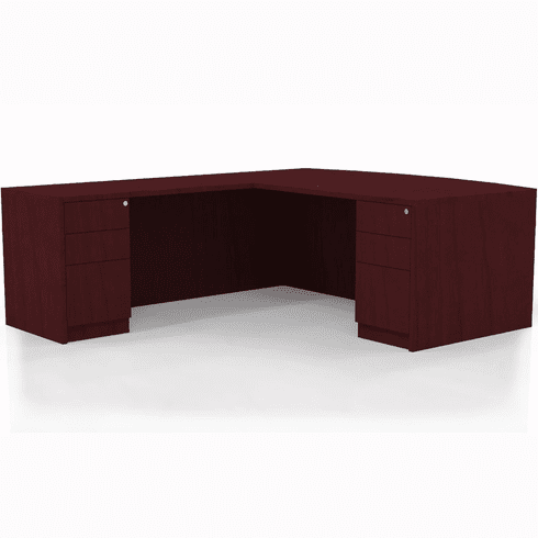 Mayline Luminary Office Desk Set Cherry Veneer [ELB5C]
