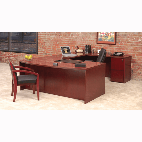 Mayline Luminary Office Desk Set Cherry Veneer [EU3C]