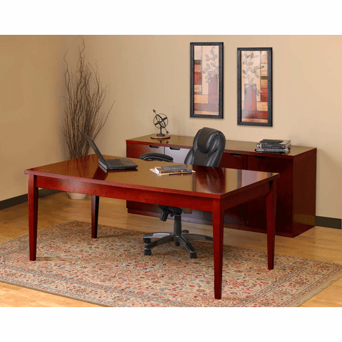 Mayline Luminary Office Desk Set Cherry Veneer [LUM12C]