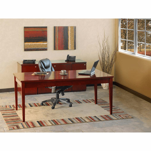 Mayline Luminary Office Desk Set Cherry Veneer [LUM14C]