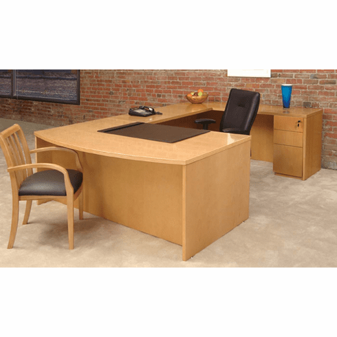 Mayline Luminary Office Desk Set Maple Veneer [EUB3M]