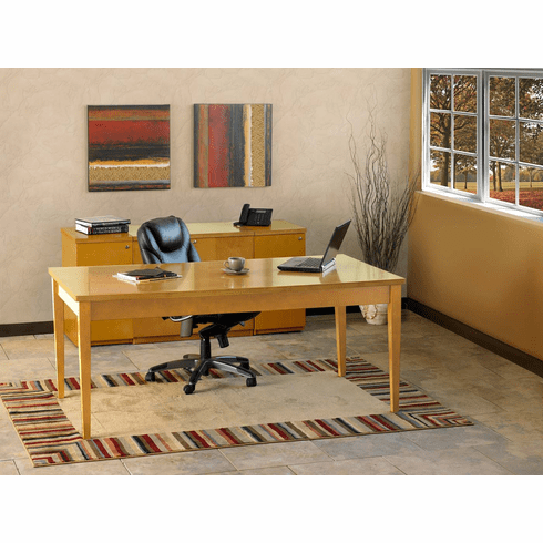 Mayline Luminary Office Desk Set Maple Veneer [LUM14M]