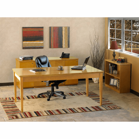 Mayline Luminary Office Desk Set Maple Veneer [LUM15M]