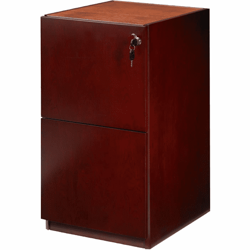 "Mayline Luminary Pedestal File FF for 30"" Desk Cherry [PFF22C]"