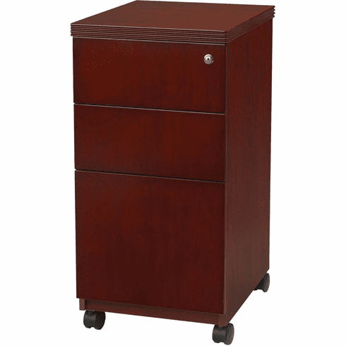Mayline Luminary Pedestal File for Credenza BBF with Caster Cherry [PBBFT19C]