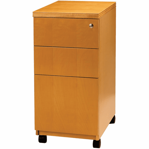 Mayline Luminary Pedestal File for Credenza BBF with Caster Maple [PBBFT19M]