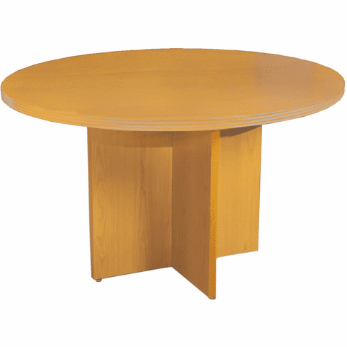 Mayline Luminary Round Conference Table Maple Veneer [RT42M]