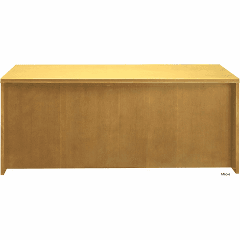 "Mayline Luminary Straight Front Desk 72"" Maple Veneer [DKS3672M]"