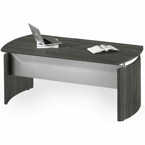 "Mayline Medina 63""W Desk Gray Steel Laminate [MND63LGS]"