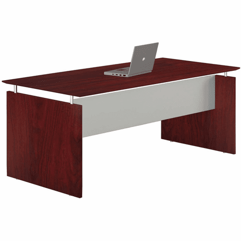 "Mayline Medina 72"" Rectangle Straight Desk Mahogany [MNDS72LMH]"