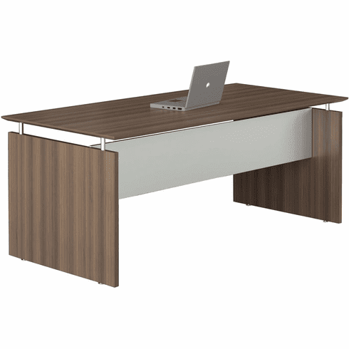 "Mayline Medina 72"" Rectangle Straight Desk Textured Brown [MNDS72TBS]"
