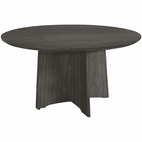 "Mayline Medina Conference Table 48"" Round Gray Steel [MNCR48LGS]"