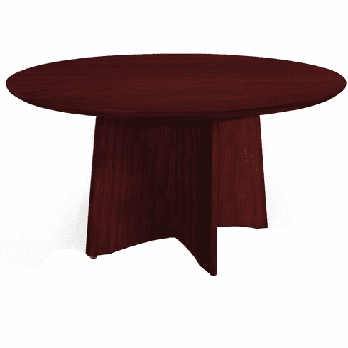 "Mayline Medina Conference Table 48"" Round Mahogany [MNCR48LMH]"