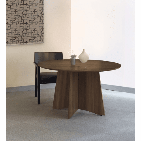 """Mayline Medina Conference Table 48"""" Round Textured Brown Sugar [MNCR48TBS]"""