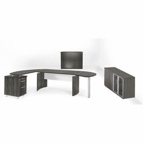 Mayline Medina Office Desk Set Gray Steel [MNT16LGS]