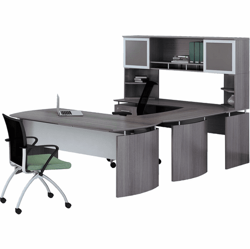 Mayline Medina Office Desk Set Gray Steel [MNT35LGS]