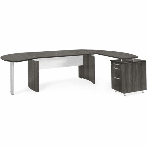 Mayline Medina Office Desk Set Gray Steel [MNT4LGS]