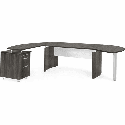 Mayline Medina Office Desk Set Gray Steel [MNT5LGS]