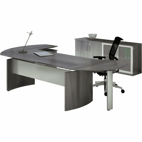 Mayline Medina Office Desk Set Gray Steel [MNT7LGS]