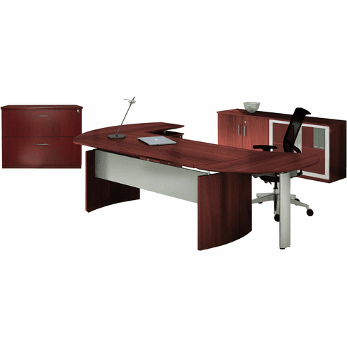 Mayline Medina Office Desk Set Mahogany [MNT15LMH]