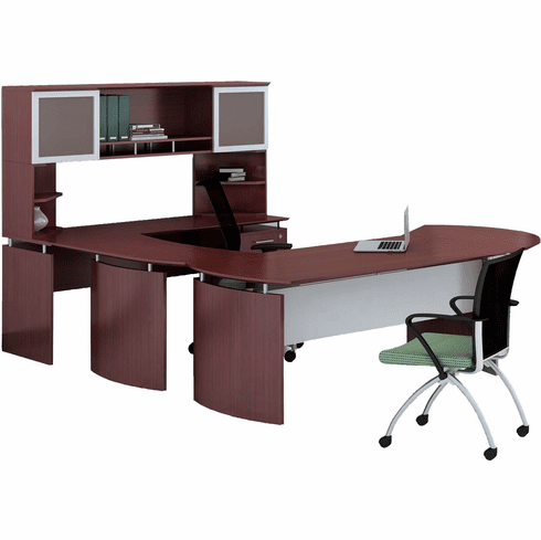 Mayline Medina Office Desk Set Mahogany [MNT31LMH]