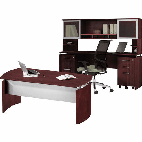 Mayline Medina Office Desk Set Mahogany [MNT38LMH]