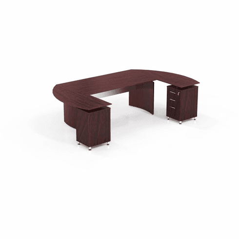 Mayline Medina Office Desk Set Mahogany [MNT3LMH]