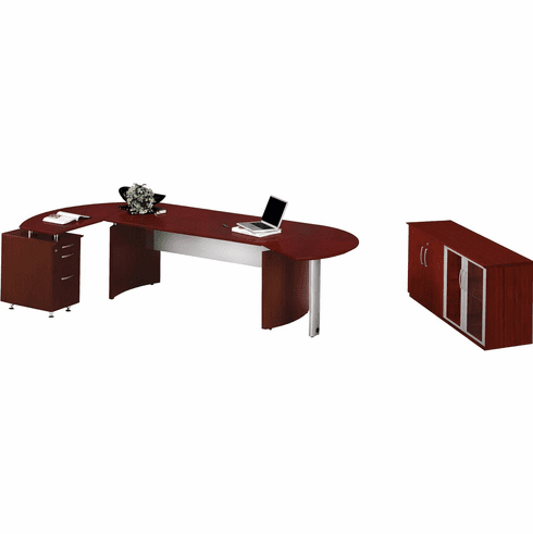 Mayline Medina Office Desk Set Mahogany [MNT8LMH]