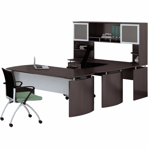 Mayline Medina Office Desk Set Mocha [MNT33LDC]
