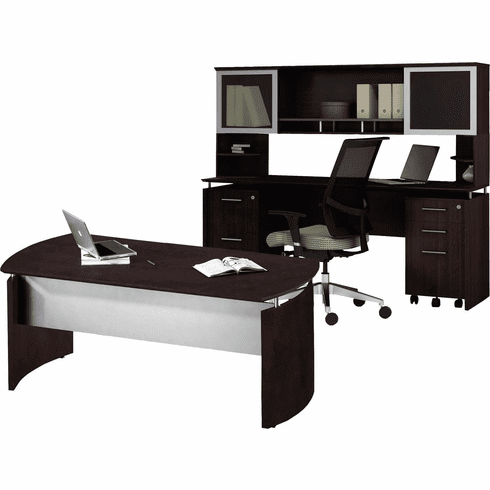 Mayline Medina Office Desk Set Mocha [MNT38LDC]
