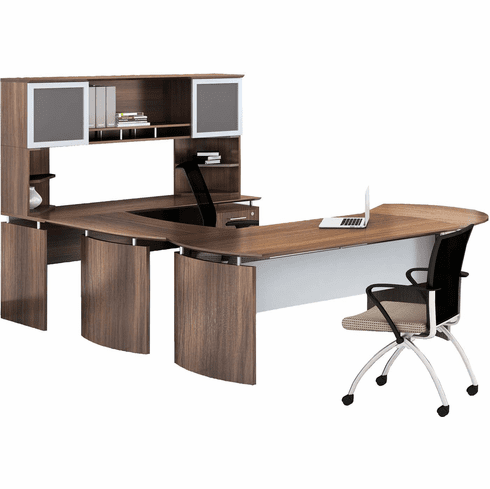 Mayline Medina Office Desk Set Textured Brown Sugar [MNT31TBS]