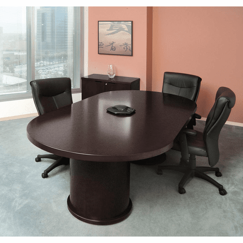 Mayline Mira 6' Racetrack Conference Table Espresso [MCTDB3672ESP]