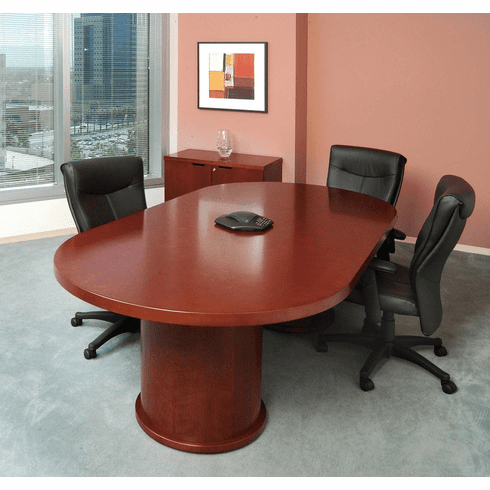 Mayline Mira 8' Racetrack Conference Table Medium Cherry [MCTDB4896MC]