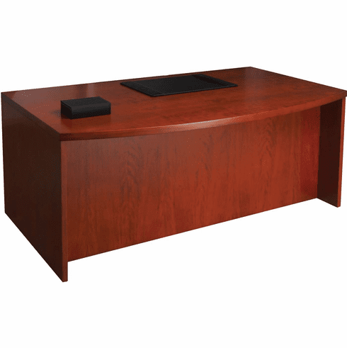 "Mayline Mira Bow Front Desk 72"" Medium Cherry Veneer [MDK3672MC]"