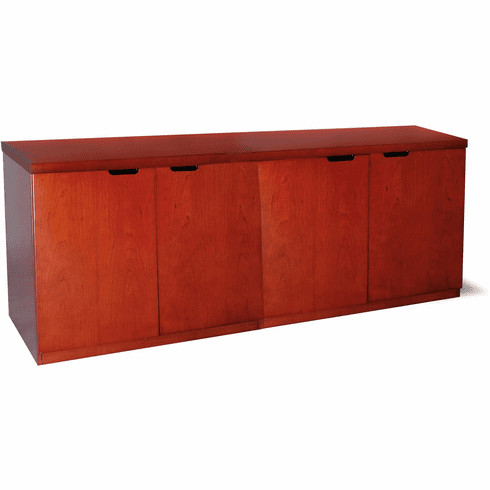 "Mayline Mira Hinged Door Credenza 72"" Medium Cherry [MHDC2072MC]"