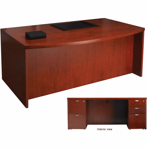 Mayline Mira Office Desk Set Medium Cherry Veneer [MDPDK3672MC]