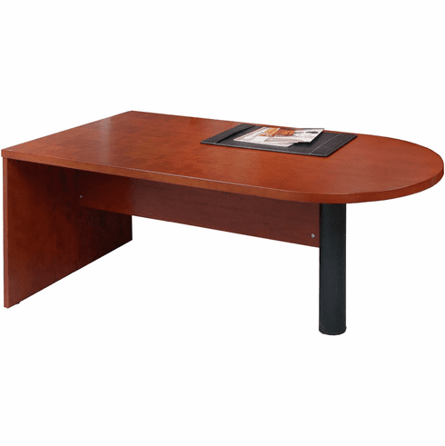 Mayline Mira Peninsula Desk Return / Bridge Medium Cherry [MPT3672MC]