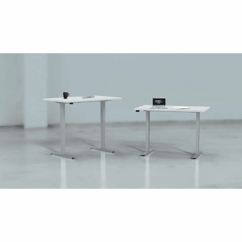 "Mayline ML-Series 48""x30"" Height Adjustable Table White [5223048H5PA]"