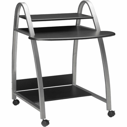 Mayline Mobile Arch Computer Desk Anthracite [971ANT]