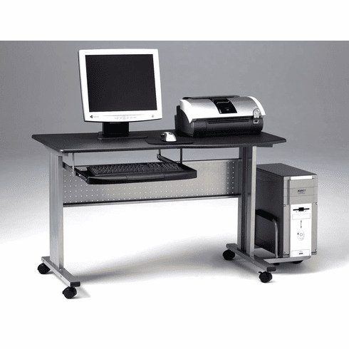 Mayline Mobile Computer Worktable Metallic Gray, Anthracite [8100TDANT]