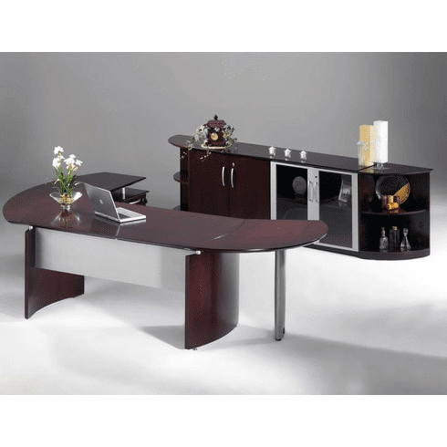 Mayline Napoli Office Desk Set Mahogany Veneer [NT10MAH]
